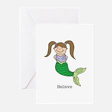 Mermaid Girl 3 Greeting Cards (Pk of 10)