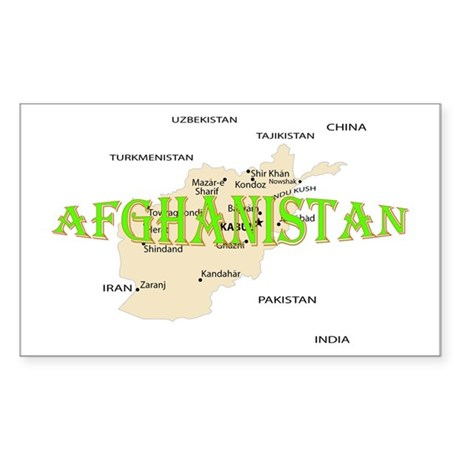 Afghanistan Sticker (Rectangle)