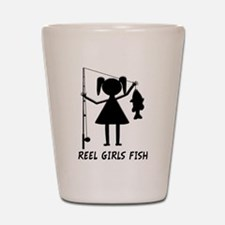 Reel Girls Fish Shot Glass