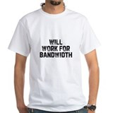 Bandwidth Mens White T-shirts