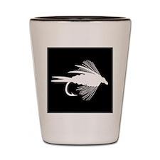 WHITE FLY Shot Glass