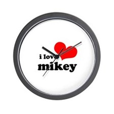 I Love Mikey Wall Clock