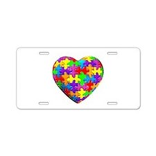 Jelly Puzzle Heart Aluminum License Plate
