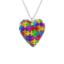 Jelly Puzzle Heart Necklace