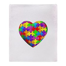 Jelly Puzzle Heart Throw Blanket