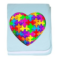 Jelly Puzzle Heart baby blanket