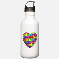 Jelly Puzzle Heart Water Bottle