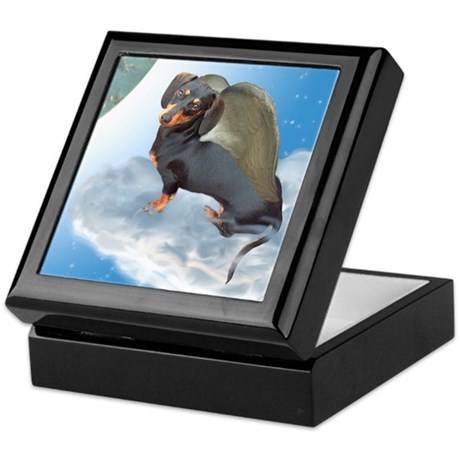 Angel Dachshund Dogs Keepsake Box