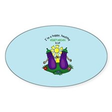 Veggie Kid Oval Decal