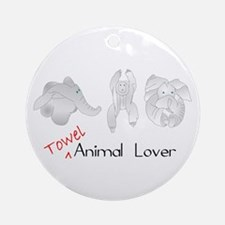 Towel Animal Lover Ornament (Round)