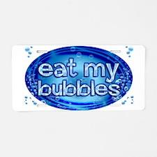 Bubbles Aluminum License Plate