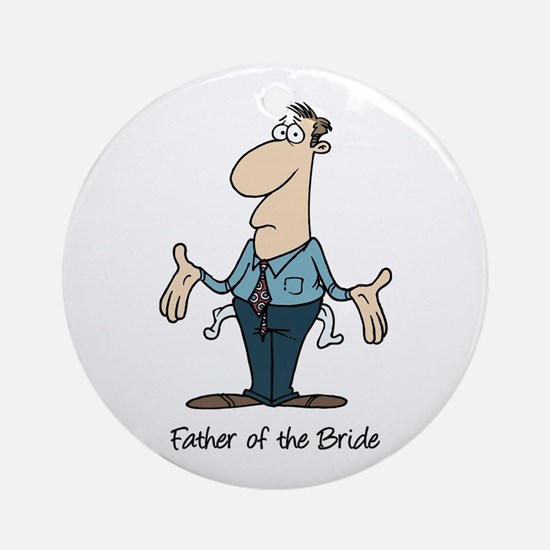 Funny Father of the Bride Ornament (Round)