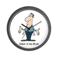 Funny Father of the Bride Wall Clock