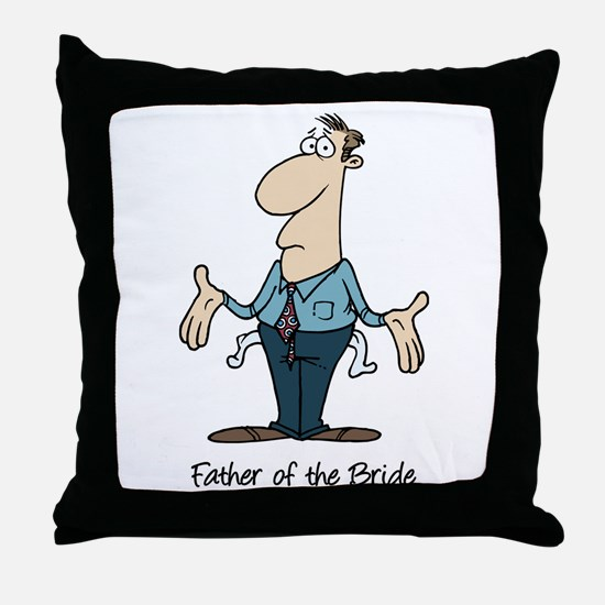 Funny Father of the Bride Throw Pillow