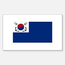 South Korean Flag Sticker (Rectangle)
