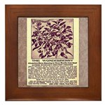 Wonderberry Vintage Ad from 1909 Framed Tile