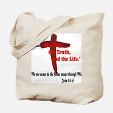 Jesus is the way,truth,life. Tote Bag
