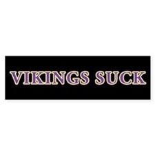 Vikings Suck Bumper Bumper Sticker