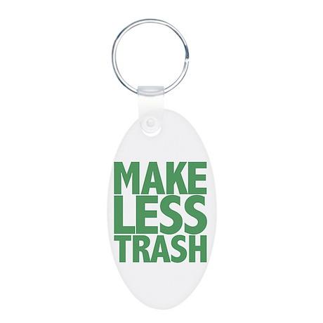 Make Less Trash Aluminum Oval Keychain