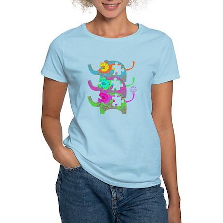 ELEPHANTS FOR AUTISM Women's Light T-Shirt