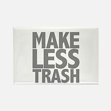 Make Less Trash Rectangle Magnet (10 pack)