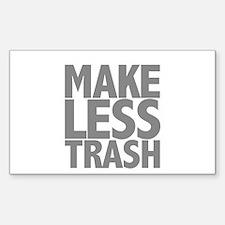 Make Less Trash Decal