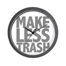 Make Less Trash Wall Clock