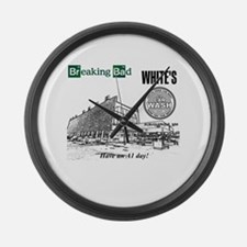 Breaking Bad Car Wash Large Wall Clock