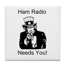 Ham Radio Needs You! Tile Coaster