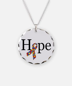 Autism HOPE Ribbon Necklace