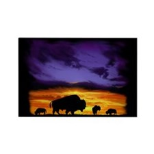 Bison silhouette Rectangle Magnet