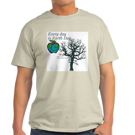 Every day is Earth Day Ash Grey T-Shirt