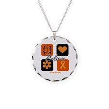 Believe Leukemia Awareness Necklace
