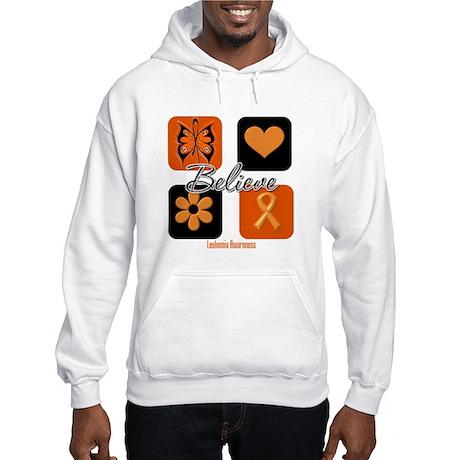 Believe Leukemia Awareness Hooded Sweatshirt