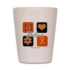 Believe Leukemia Awareness Shot Glass