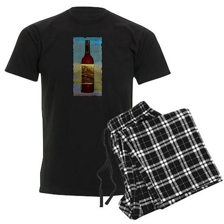 Wine Bottle Men's Dark Pajamas