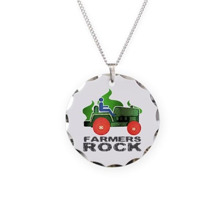 Farmers Rock Necklace Circle Charm