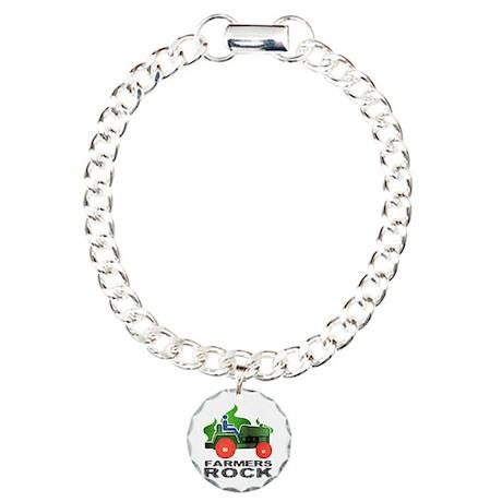 Farmers Rock Charm Bracelet, One Charm
