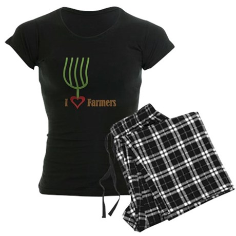 I Heart Farmers Women's Dark Pajamas