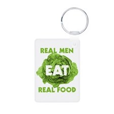 Real Men Eat Real Food Keychains