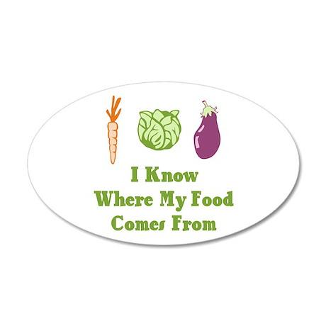 My Food 22x14 Oval Wall Peel