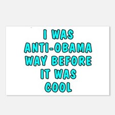 I was anti-Obama Postcards (Package of 8)