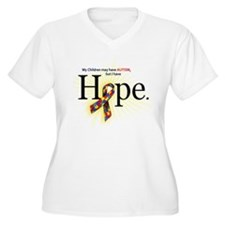 Autism HOPE Ribbon (Children) V-Neck Plus T