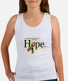 Autism HOPE Ribbon (Cousin's) Women's Tank Top