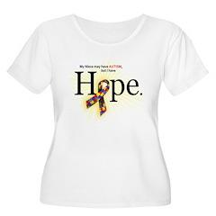 Autism HOPE Ribbon (Niece) Scoop Neck Plus T