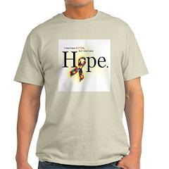 Autism HOPE Ribbon (Self) Light T-shirt