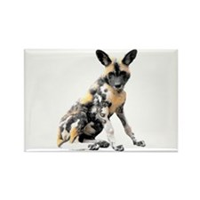 Painted Puppy Rectangle Magnet