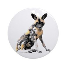 Painted Puppy Ornament (Round)