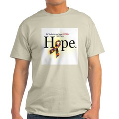 Autism HOPE Ribbon (Students) Light T-shirt
