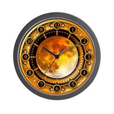 Clock of the Yellow Moon Wall Clock